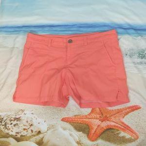 Athleta coral pink shorts size 8